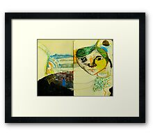 self portrait back to the future Framed Print