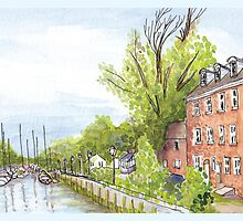 Plein Air Moleskine 2013 Delaware City Delaware by Jan Crumpley