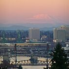 dusk over the willamette by Bruce  Dickson