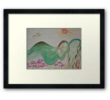 Pregnant Earth Framed Print
