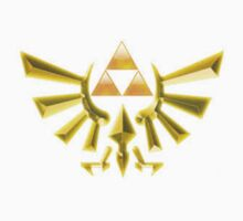 Golden Hylian Crest - Zelda Shirt by TanookiJosh