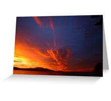 d'entrecasteaux sunrise. tasmania, australia Greeting Card