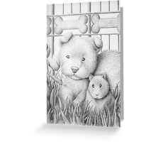 Dog And Hamster Greeting Card