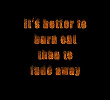 It's better to burn out than to fade away case by Zoe Gentz