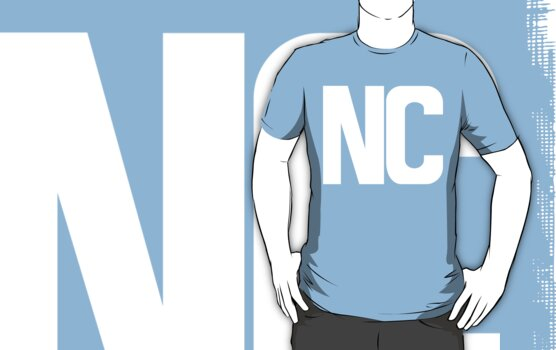 North Carolina NC White Ink by FreshThreadShop