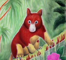 Red Tree Kangaroo by jkartlife