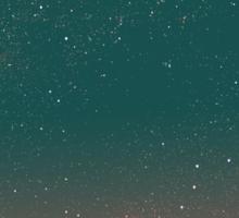 Quiet night starry sky Sticker