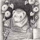 Ferret Portrait by jkartlife