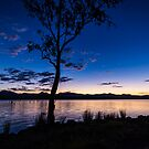 Dusk at the lake  by Brent Randall