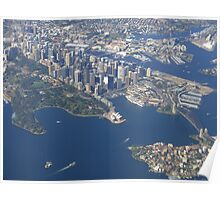 I picked a great day to fly into Sydney! Poster