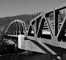 GeoMetric Bridge - B&W by rke3