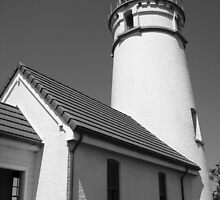 Cape Blanco Lighthouse - B&W by rke3