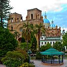 Parque Calderon and Immaculate Conception Cathedral in Cuenca by Al Bourassa