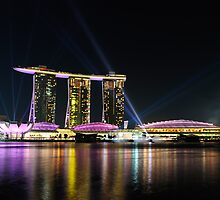 Singapore Marina Bay Sands Lightshow by HuyLuu