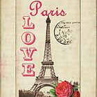 Love Paris with Red Rose by claryce84
