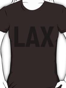 LAX Los Angeles International Airport Black Ink T-Shirt