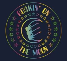 Rockin' On The Moon Colorful decoration Clothing & Stickers by goodmusic