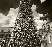 ©MS The Christmas Tree In Tlalpujahua IA Monochromatic by OmarHernandez