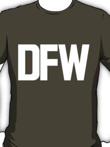 DFW Dallas Fort Worth International Airport White Ink T-Shirt