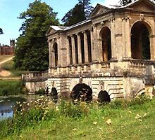 The Palladian Bridge at Stowe Gardens by CostaRicaLads