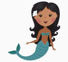 Cute african american cartoon mermaid stickers by MheaDesign