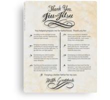 The TYJJ Manifesto (Thank You Jiu-Jitsu) SON Canvas Print