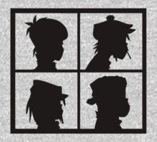 Gorillaz (Black & White) by TheRobertMalo