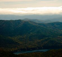 Black Mountains and Swannanoa River by ValeriesGallery