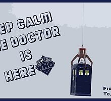 Keep Calm Doctor Is Here-Greeting Card by Rainpotion
