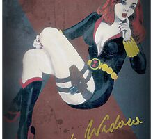 Black Widow Marvel Pin Up by TheFunkMaster3K