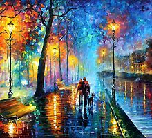 Melody Of The Night — PALETTE KNIFE2 Oil Painting On Canvas By Leonid Afremov — https://www.etsy.com/listing/166609549/melody-of-the-night-palette-knife2-oil?ref=shop_home_active by Leonid  Afremov