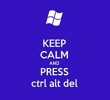 Keep Calm and Press Ctrl Alt Delete by nickeybird