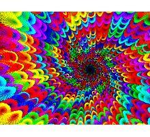 Rainbow Puff World Photographic Print