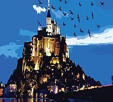 Mont Saint-Michel FRANCE by cheeckymonkey