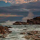 Storm Splash at Sunset by bazcelt