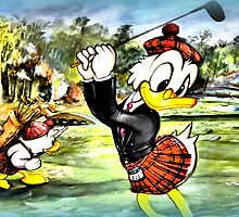Donald the golfer by ©The Creative  Minds