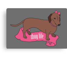 Thug Life - Vaguely Menacing Puppies with Bows #2 Canvas Print