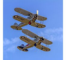 A pair of Gloster Gladiators Photographic Print