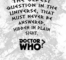 Doctor who-First question by Rainpotion