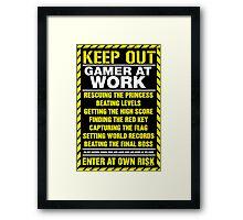 Gamer At Work Poster Framed Print