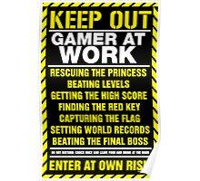 Gamer At Work Poster Poster