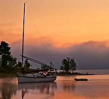 Sail boat at Pinhey's Point by MichaelBachman