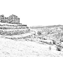 Inca Ruins on Cojitambo in Ecuador by Al Bourassa