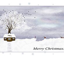 Merry Christmas card by Nika Lerman