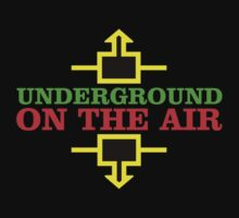 Underground Music Broadcast decoration Clothing & Stickers  by goodmusic