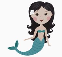 Cute cartoon mermaid stickers by MheaDesign