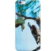 Osprey Takes Flight Abstract Impressionism iPhone Case/Skin