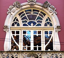 Art Nouveau window, Coimbra  by juliedawnfox