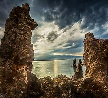 Mono Lake Dark Clouds by Jerome Obille