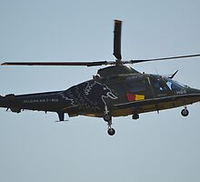 Agusta A109 HA Belgian Air Force by mike  jordan.